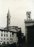Italie Florence Firenze Le Bargello & La Badia Ancienne Photo 1961 - Places