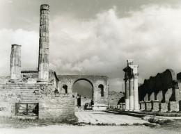 Italie Pompei Pompeii Forum Ancienne Photo 1961 - Places