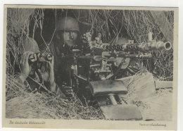 Die Deutsche Wehrmacht Vormarschsicherung Mit MG - Guerre 1939-45
