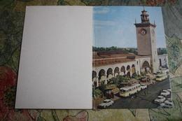 Russia. Crimea. Simferopol Capital. Central Railway Station / Bahnhof With Taxi Parking - Old Postcard - 1967 - Estaciones Sin Trenes