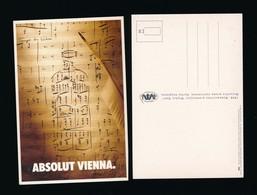 Publicité Carte Postale Publicitaire Galeria Miedzy Nami Pologne - ABSOLUT Vienna - Advertising