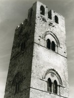 Italie Sicile Erice Chiesa Matrice Campanile Ancienne Photo 1961 - Places