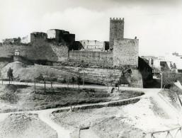 Italie Sicile Enna Panorama Château De Lombardie Ancienne Photo 1961 - Places
