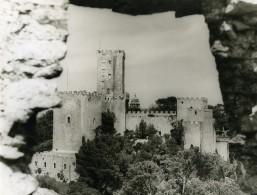 Italie Sicile Erice Chateau Normand Ancienne Photo 1961 - Places