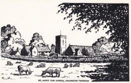 CHURSTON FERRERS - ST MARY THE VIRGIN CHURCH. 2 CARDS - England