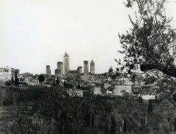 Italie San Geminiano Panorama Ancienne Photo 1961 - Places