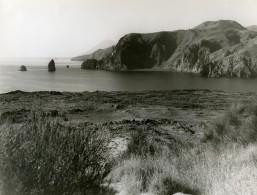 Italie Sicile Lipari Bord De Mer Ancienne Photo 1961 - Places