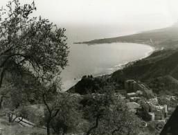 Italie Taormine Taormina Panorama Ancienne Photo 1961 - Places
