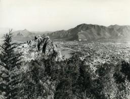 Italie Baie De Palerme Panorama Ancienne Photo 1961 - Places