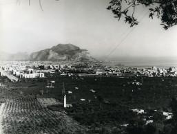 Italie Baie De Palerme Panorama Monte Pellegrino Ancienne Photo 1961 - Places
