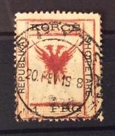 ALBANIA 1917  1 FRG USATO IL 20/2/1919 - Albania