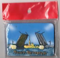 Russia 2018 Magnet Relief Drawbridge In St. Petersburg - Tourism