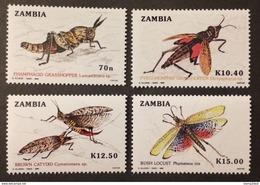 Zambia 1989** Mi.503-06 Insects MNH [20;151] - Insectes