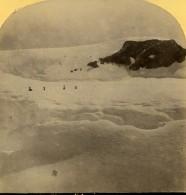 Suisse Alpinistes Au Sommet Du Lasi ? Ancienne Photo Stereo Gabler 1885 - Stereoscopic