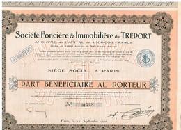 Action Ancienne - Société Foncière Et Immobilière Du Tréport - Titre De 1926 - - Actions & Titres