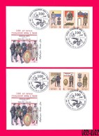 TRANSNISTRIA 2018 Military Banner Flag Emblem & Soldier Uniform Of Russia Civil War 1918 2 FDC First Day Covers - Medicine
