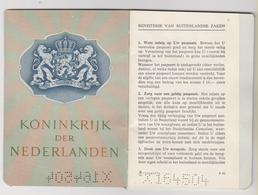 NEDERLAND -THE NETHERLANDS Passport 1964 PAYS-BAS Passeport – Reisepaß - Historische Documenten