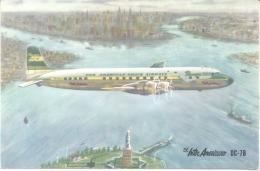 PANAGRA CPSM CIRCA 1960 EL INTER AMERICANO DC-7B DOS DIVISE UNCIRCULATED - Zeppeline