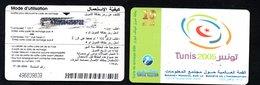2005- Tunisia- GSM-Tunisie Telecom-Carte De Recharge 10 DNT-  Sommet Mondiale Sur La Société De L'information - Tunisia