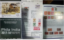 O) 2017 INDIA, STAMP  1800 2017-PHILA INDIA, 430 PAGE-ENGLISH VERSION-FULL COLOR, BY MANIK JAIN, CATALOGUE UNUSED, XF - Other