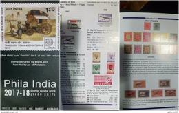 O) 2017 INDIA, STAMP  1800 2017-PHILA INDIA, 430 PAGE-ENGLISH VERSION-FULL COLOR, BY MANIK JAIN, CATALOGUE UNUSED, XF - Books, Magazines, Comics