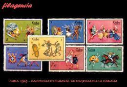 CUBA MINT. 1969-18 CAMPEONATO MUNDIAL DE ESGRIMA EN LA HABANA - Cuba
