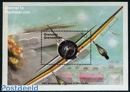 Grenada Grenadines 1995 End Of World War II In The Pacific S/s, (Mint NH), Transport - Aircraft & Aviation - History - W - WO2