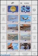 Venezuela 1986 Viasa 10v M/s, (Mint NH), Transport - Aircraft & Aviation - Various - Maps - Geografía