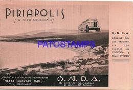 95744 URUGUAY PIRIAPOLIS DTO MALDONADO PUBLICITY COMMERCIAL O.N.D.A POSTAL POSTCARD - Uruguay