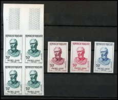 France N°1133 Michel Ange Michelangelo Bloc De 4 Essai (trial Color Proof) + Non Dentelé (imperforate) ** MNH - Imperforates