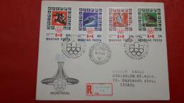 La Hongrie FDC Des Jeux Olympiques 1976 - Ete 1976: Montréal