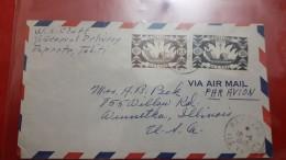 Enveloppe Circulé De L'Océanie La France Libre - Oceanía (1892-1958)