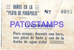 95771 URUGUAY PIRIAPOLIS DTO MALDONADO BEACH PLAYA BAÑO CASILLA DE BAÑO ENTRADA NO POSTAL POSTCARD - Other Collections