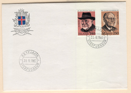 ICELAND Europa 1980 (Important Personalities) First Day Cover Mi. Nr. 552-553 - 1944-... Repubblica