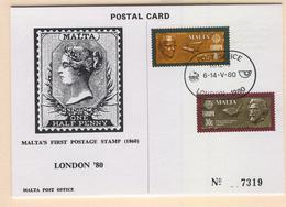 MALTA Europa 1980 (Important Personalities) Post Card Mi. Nr. 615-616 - Europa-CEPT