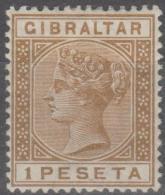GIBRALTAR - 1889 1p Queen Victoria. Scott 36. Mint * - Gibraltar