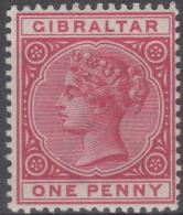 GIBRALTAR - 1898 1d Queen Victoria. Scott 11. MNH ** - Gibraltar