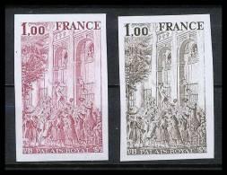 France N°2049 Palais Royal Paris Non Dentelé ** MNH (Imperforate) - France