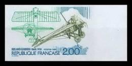 France N°2544 Roland Garros Aviateur Avion (plane Aviation Airmail Tennis) Non Dentelé ** MNH (Imperforate) - Aerei