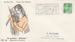 Enveloppe   FDC  Flamme   Du   1er   Jour    FRANCE   0,10   MOISSONNEUSE  BARBIZON   1960 - 1960-1969