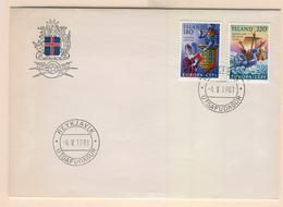 ICELAND Europa 1981 (Folklore) First Day Cover Mi. Nr. 565-566 - 1944-... Repubblica