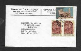 Cyprus Cover, 40M,  NICOSIA 16 DEC 71 > S.Africa - Cyprus (Republic)