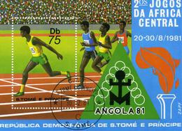 SAINT THOMAS Et PRINCE - SAN TOME E PRINCIPE - PORTUGAL - 1981 - Bloc 2° Jeux De L'Afrique Centrale  ANGOLA 81 - St. Thomas & Prince