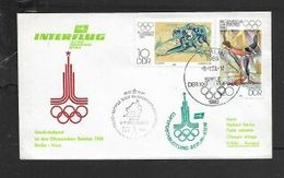 D.D.R. 1980 Interflug LUFTPOSTABLEITUNG  BERLIN 8.7.80 > Kiev - [6] Democratic Republic