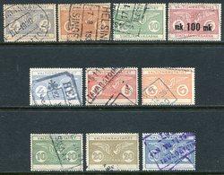 Finland 1924-1949 State Railways (VR) Railway Parcel Freight Stamps Selection Eisenbahn Paketmarke Chemin De Fer Colis - Trains