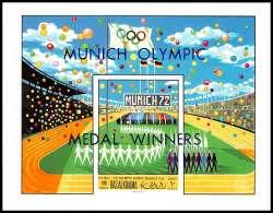 Ras Al Khaima - 539/ N° 100 B Jeux Olympiques (olympic Games) Munich 72 OVERRPINT Neuf ** MNH  Non Dentelé (imperforate) - Sommer 1972: München