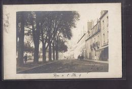 CPA PHOTO 21 - DIJON - Rue De L'Ile - TB PLAN En CP Photographique Rue CENTRE VILLE ANIMATION MAGASIN STAND - Dijon