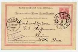 1904 POSTKARTE (Mi. P 151 I A) In Die SCHWEIZ - Stamped Stationery