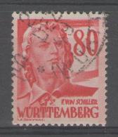 ALLEMAGNE/ZOF:  WURTEMBERG N°36 Oblitéré (1949)       - Cote 46€ - - Zone Française