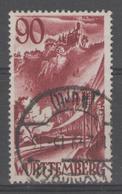ALLEMAGNE/ZOF:  WURTEMBERG N°37 Oblitéré (1949)       - Cote 139€ - - Zone Française